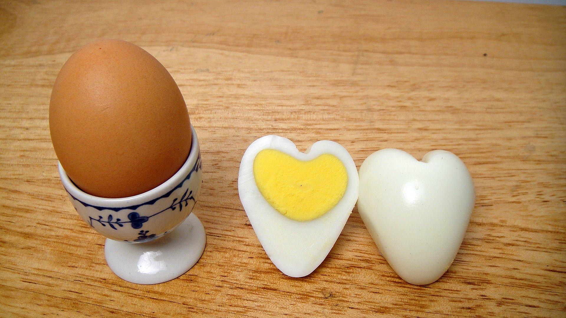 如何制作 心形鸡蛋 How to make Heart Egg