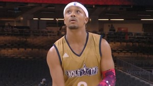 #RomeoMiller with Sneaky Lil' Move On a Free Throw Attempt | 02.17.17 #NBAAllStar
