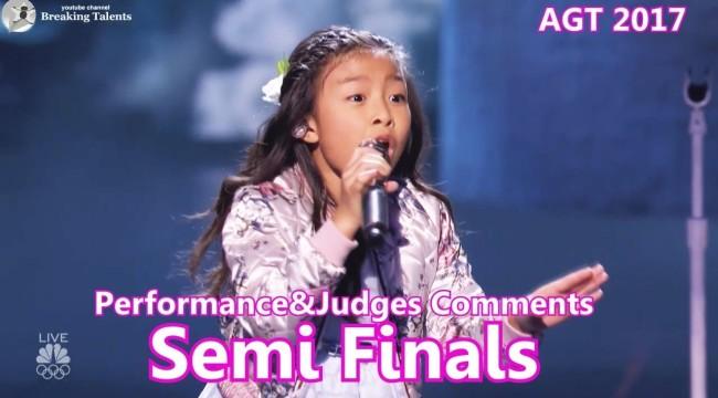#CelineTam sings Fantastic How Far I'll Go & Judges Comments Semi Finals #America'sGotTalent 2017