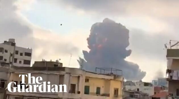 Massive explosion in #Beirut #Beirutexplosion #Lebanon